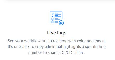 github actions live logs