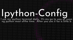 article cover for   Ipython-Config
