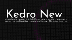 article cover for   Kedro New