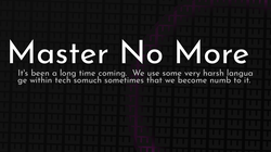 article cover for   Master No More