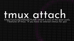 article cover for   tmux attach