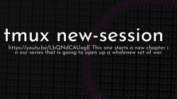 article cover for   tmux new-session