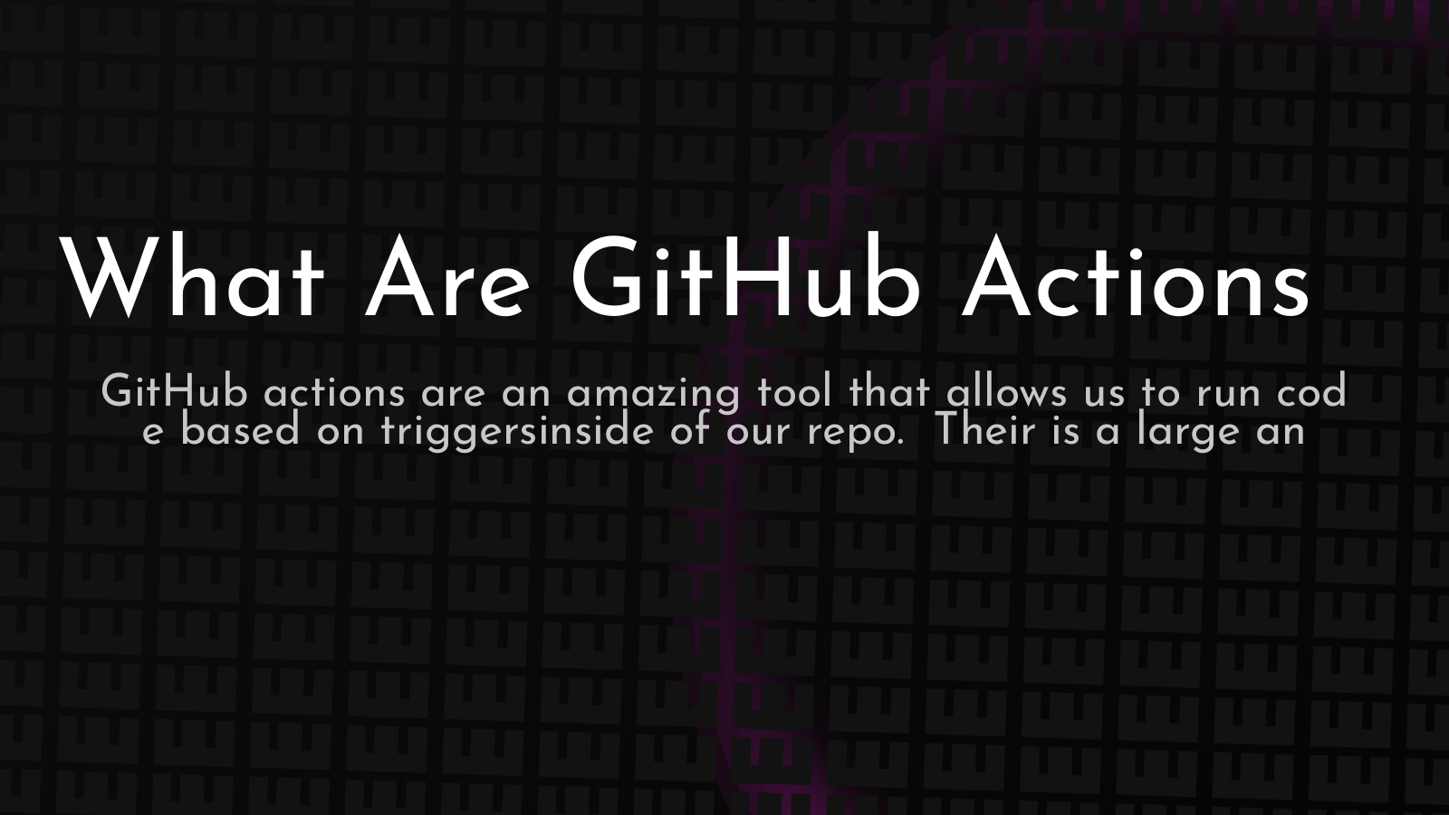 introductory article to GitHub actions